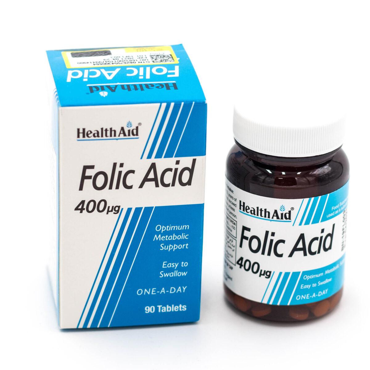 قرص فولیک اسید هلث اید 400 میکروگرم