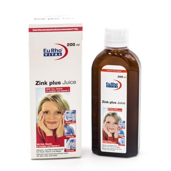 شربت زینک پلاس یوروویتال Zinc Plus Juice