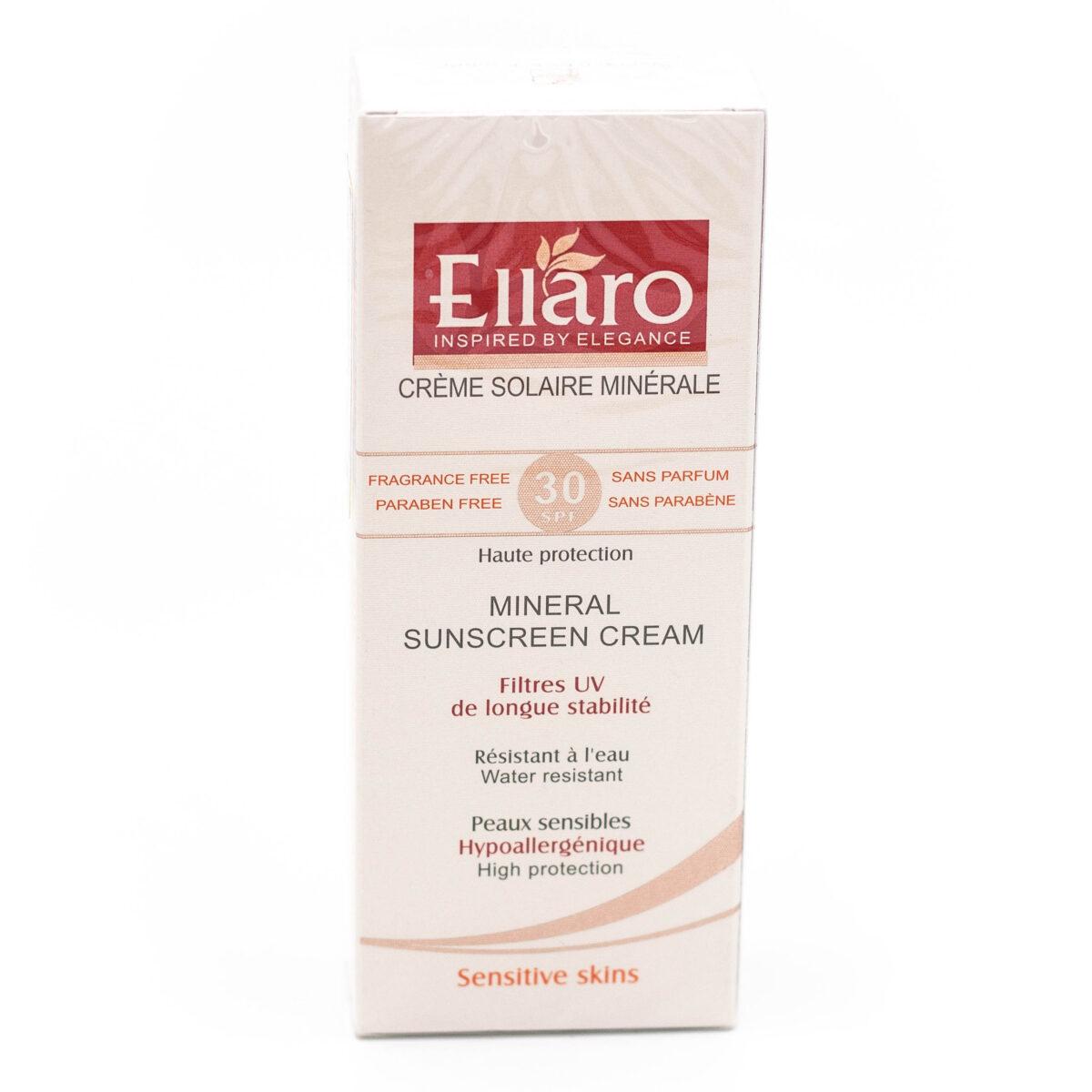 کرم ضد آفتاب مینرال Ellaro الارو با SPF 30 حجم 50 میلی لیتری