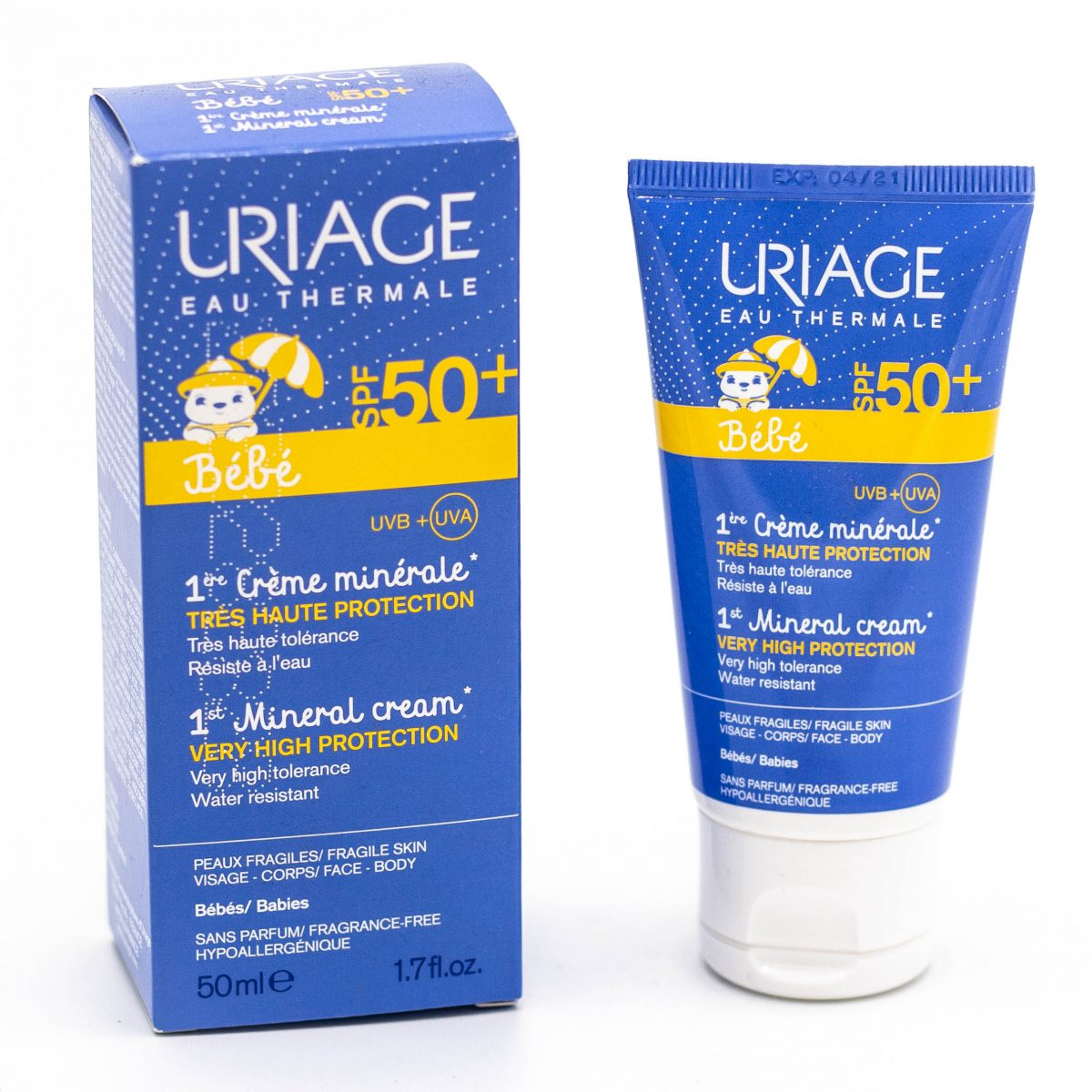 اولین کرم ضد آفتاب مینرال اوریاژ SPF50 حجم 50 میلی لیتری Uriage
