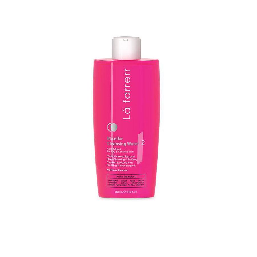 محلول پاک کننده آرایش و صورت مخصوص پوست های خشک و حساس لافارر Lafarrerr
