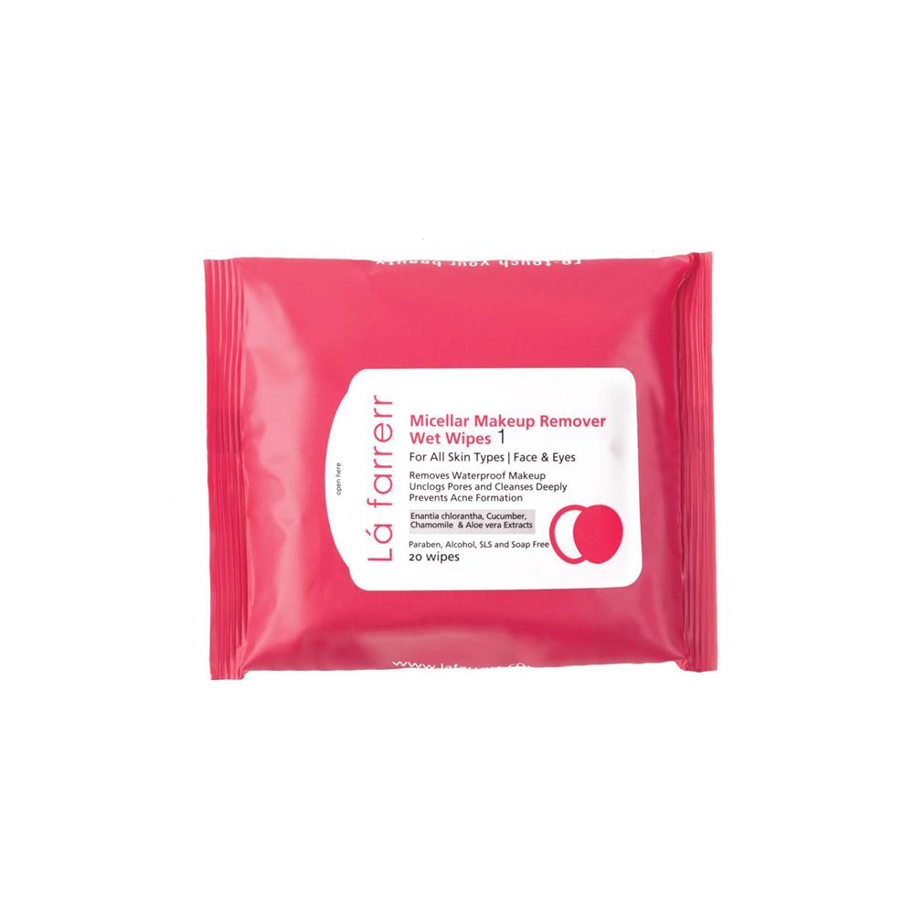 دستمال مرطوب آرایش پاک کن مخصوص انواع پوست لافارر Lafarrerr