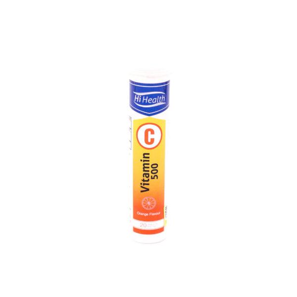 قرص جوشان پرتقالی ویتامین ث 500 های هلث HiHealth Vitamin C
