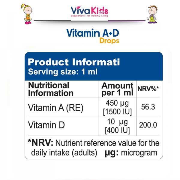 قطره ویتامینA+D ویواکیدز 30 میلی لیتر Vivakids