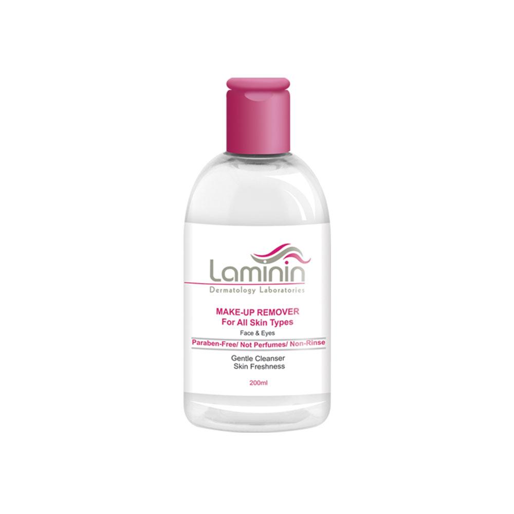 محلول پاک کننده آرایش صورت و دور چشم لامینین Laminin