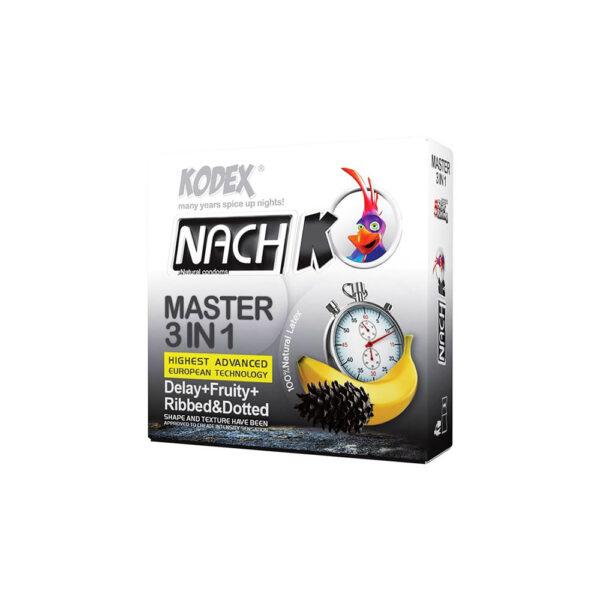 کاندوم تاخیری کدکس مدل Kodex Master 3 In 1