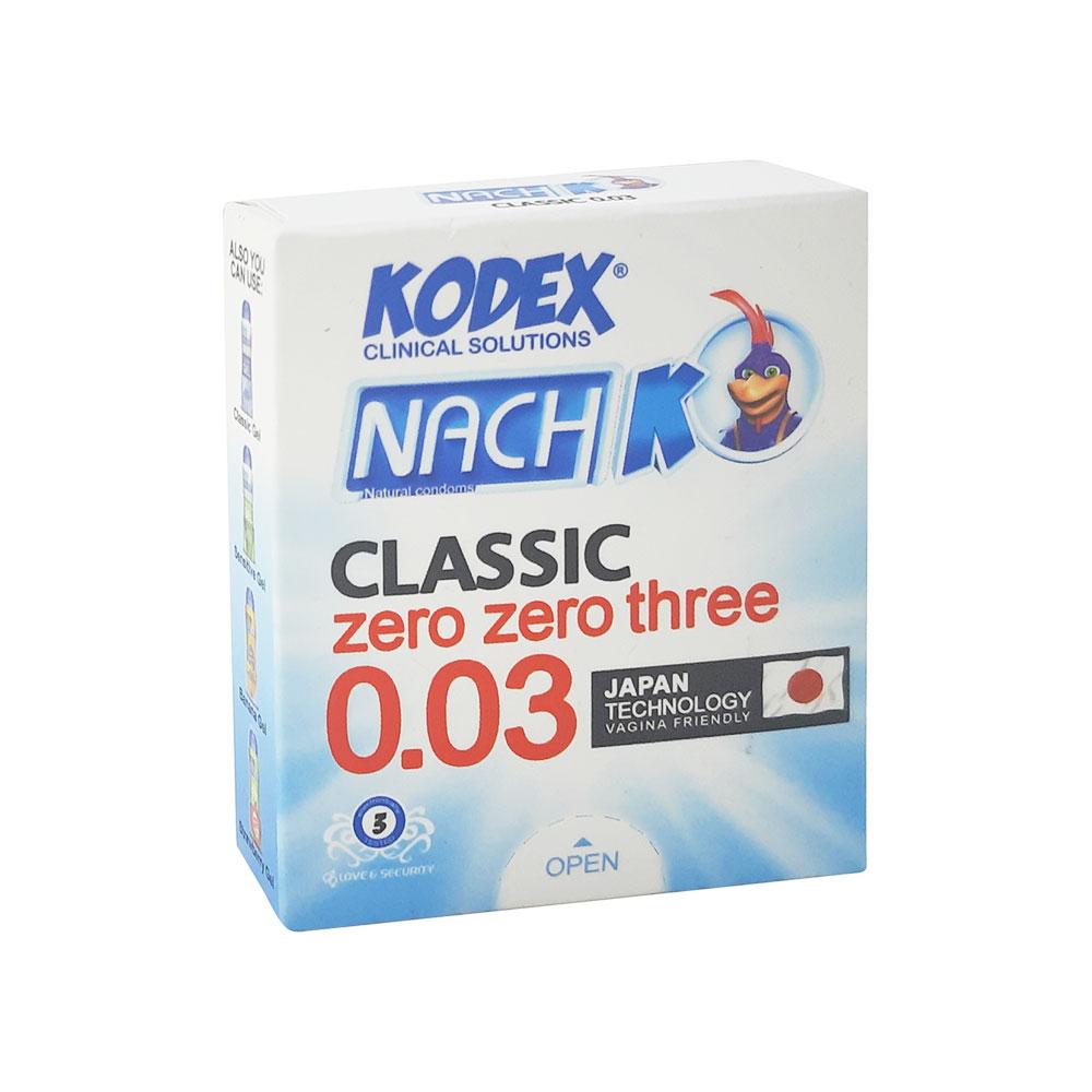 کاندوم ناچ کدکس مدل ۰٫۰۳ Kodex Classic