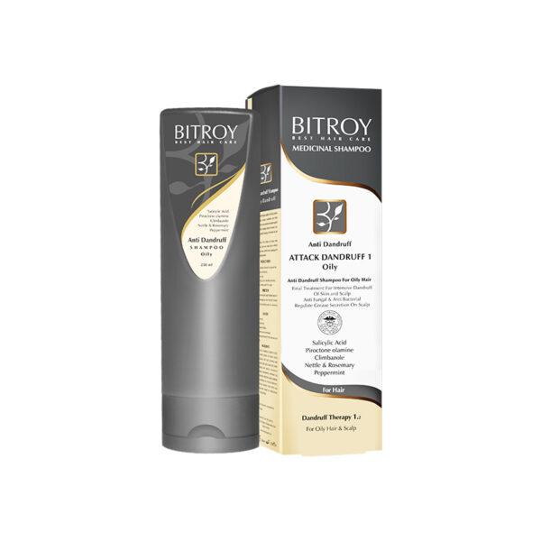 شامپو ضد شوره موهای چرب بیتروی Bitroy