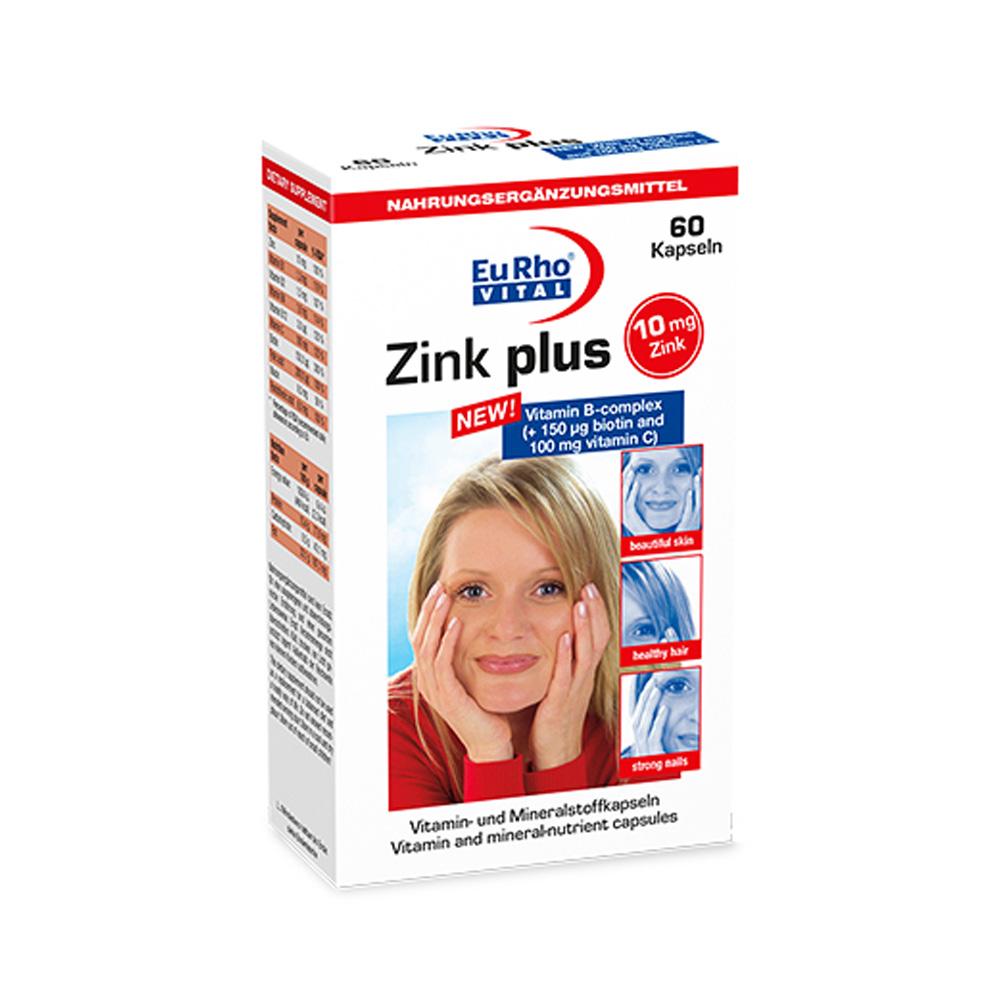 کپسول زینک پلاس ۱۰ میلی گرم یوروویتال EurhoVital Zinc Plus