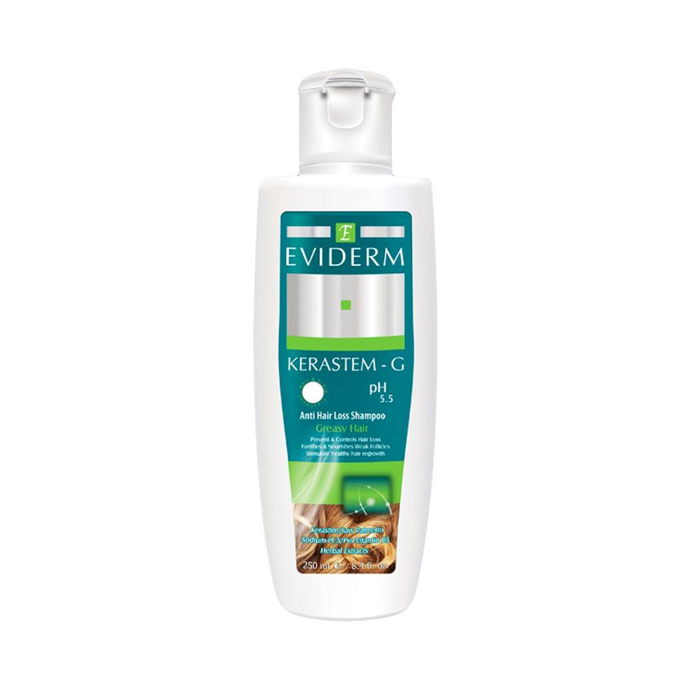 شامپو تقویت کننده موهای چرب کراستم جی Eviderm KERASTEM-G Shampoo