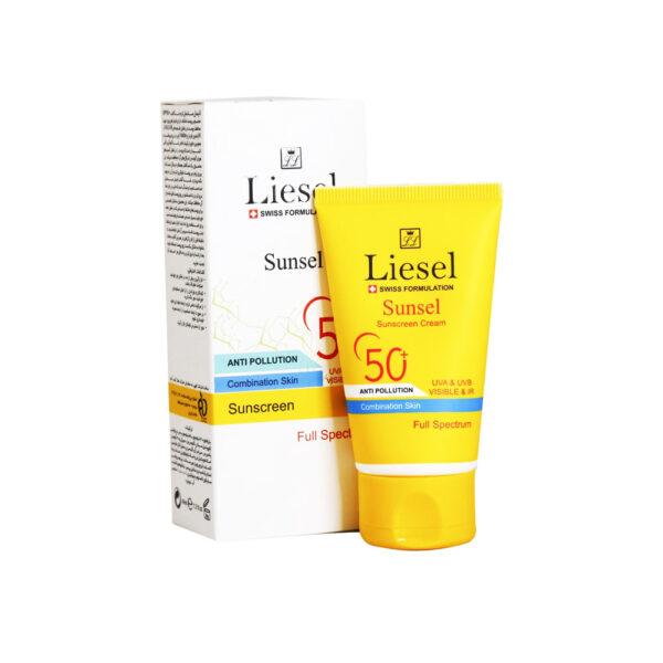 ضد آفتاب سانسل پوست مختلط +SPF50 بی رنگ لایسل Liesel