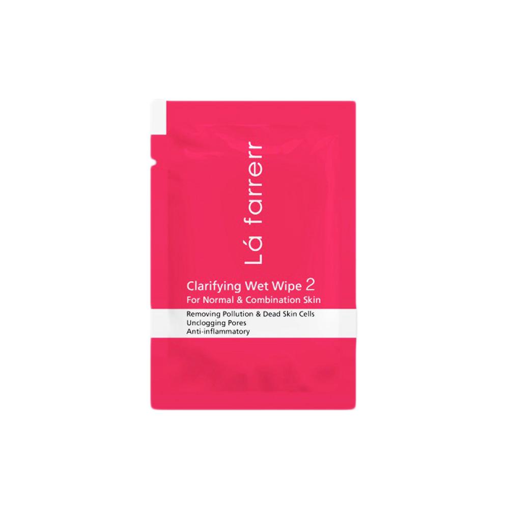 دستمال مرطوب پاکسازی کننده مخصوص پوستهای معمولی و مختلط لافارر Lafarrerr