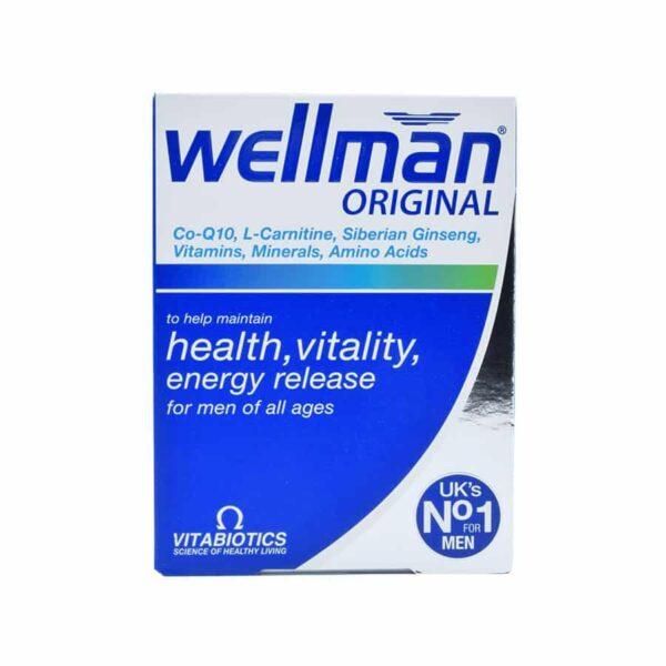 قرص ول من ویتابیوتیکس Wellman Original Formula