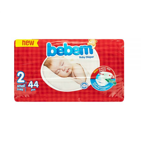 پوشک ببم مدل New سایز ۲ بسته ۴۴ عددی Bebem