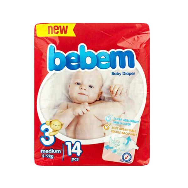 پوشک ببم مدل New سایز ۳ بسته ۱۴ عددی Bebem