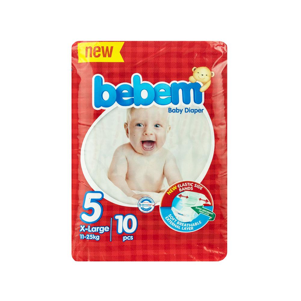 پوشک ببم مدل New سایز ۵ بسته ۱۰ عددی Bebem