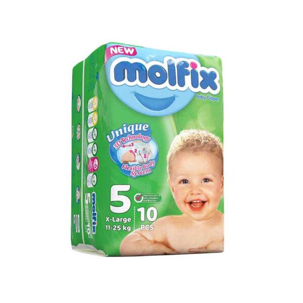 پوشک دوقلو سایز ۵ بسته ۱۰ عددی مولفیکس MOLFIX