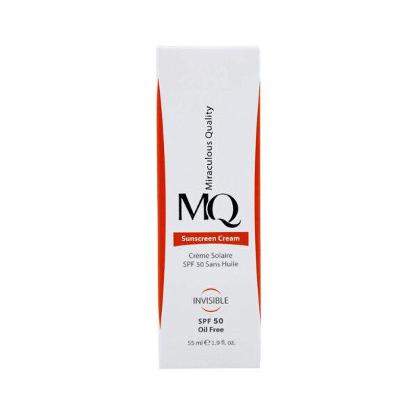 کرم ضد آفتاب بی رنگ فاقد چربی SPF50 ام کیو MQ