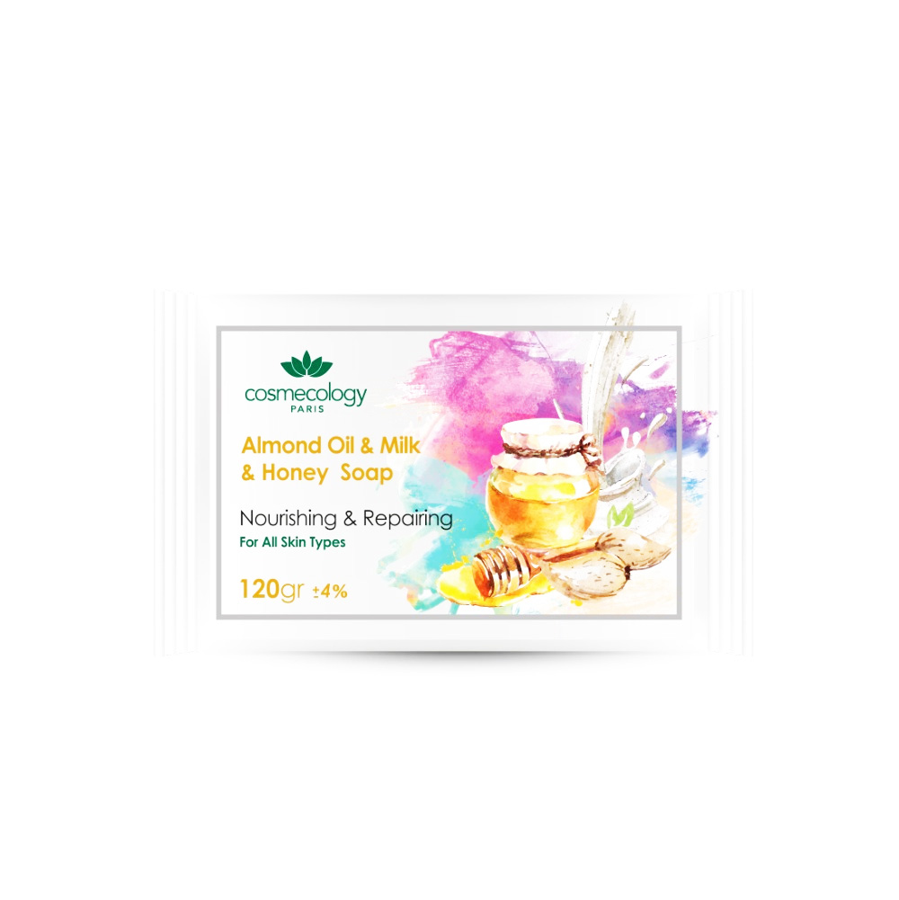 صابون روغن بادام و شیر و عسل کاسمکولوژی COSMECOLOGY