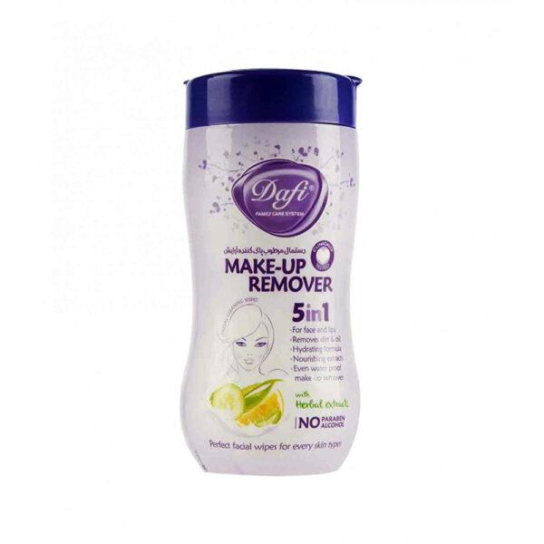 دستمال مرطوب پاک کننده آرایش دافی مدل 5IN1 بسته 70 عددی DAFI