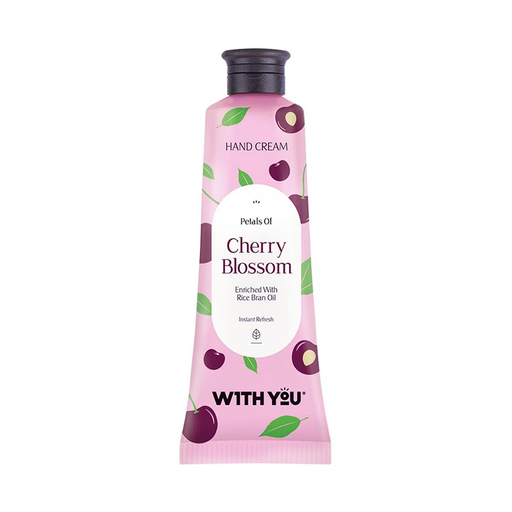 کرم طراوت بخش و مرطوبکننده دست حاوی عصاره شکوفه گیلاس ویت یو WITH YOU