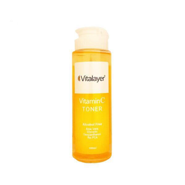 تونر صورت ویتامین ث ویتالایر 200 میلی لیتر vitalayer