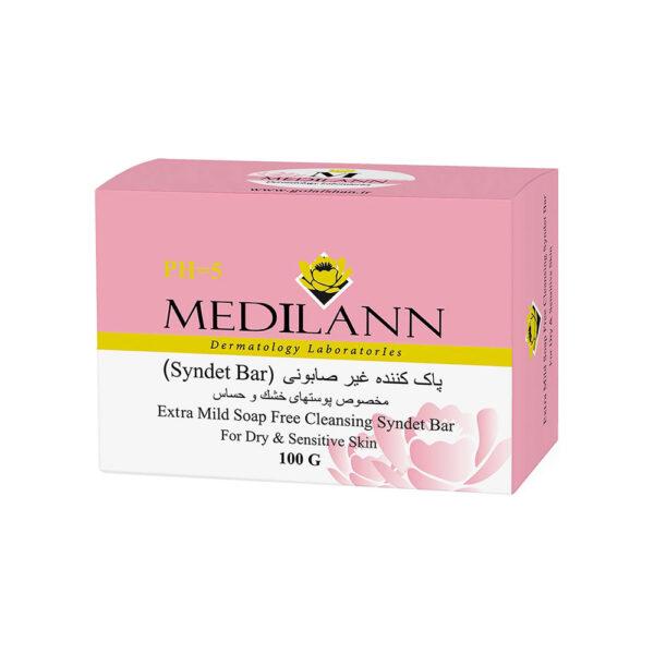 پاک کننده غیر صابونی مخصوص پوست خشک و حساس مدیلن Medilann