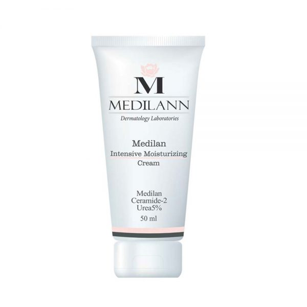 کرم مرطوب کننده پوست خشک مدیلن حاوی سرامید Medilann