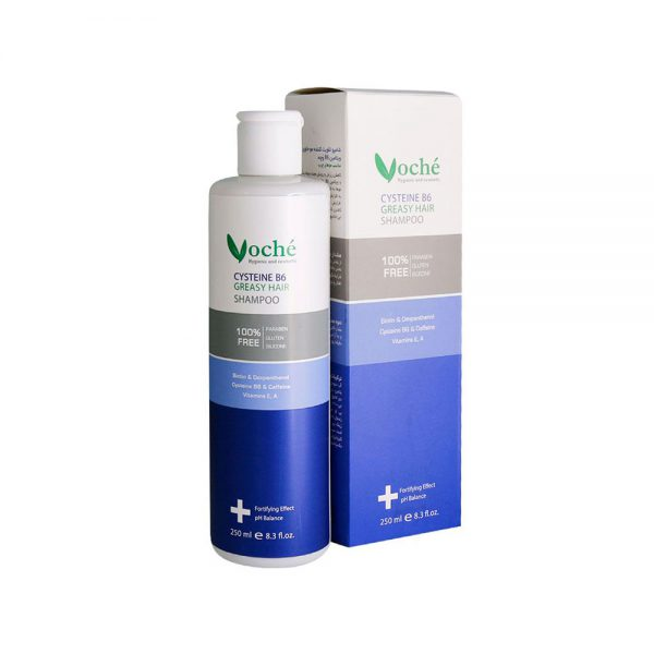 شامپو سیستئین B6 مناسب موی چرب وچه VOCHE