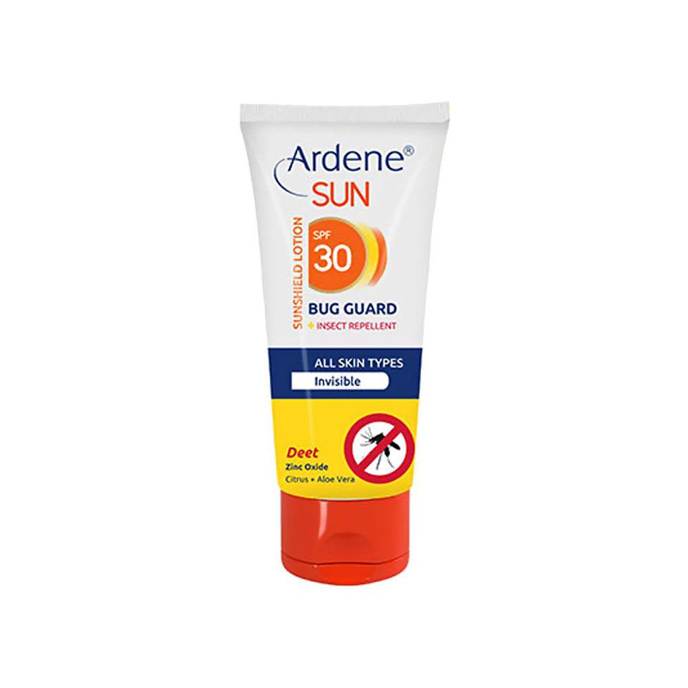 لوسیون ضد آفتاب بی رنگ SPF30 با خاصیت دافع حشرات آردن ARDENE