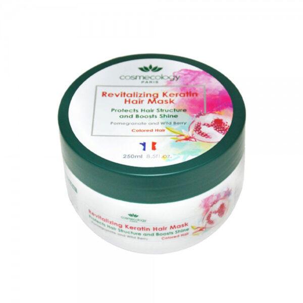 ماسک موی کراتینه و احیاکننده مناسب موهای رنگ شده کاسمکولوژی COSMECOLOGY