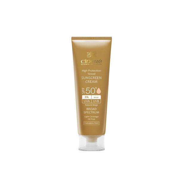کرم ضد آفتاب رنگی بژ طبیعی SPF50 سینره CINERE
