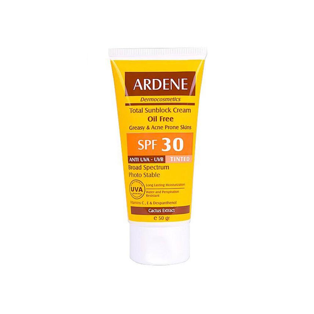 کرم ضد آفتاب رنگی فاقد چربی SPF30 آردن ARDENE
