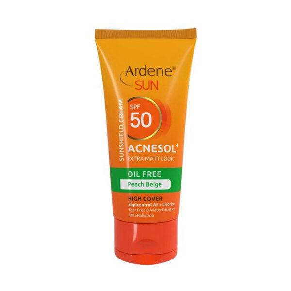 کرم ضد آفتاب رنگی فاقد چربی آکنه سول آردن ARDENE